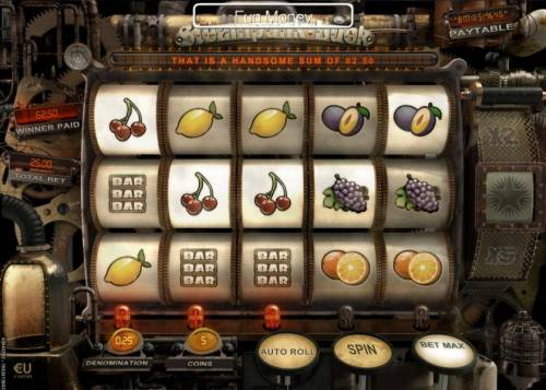 Steampunk Luck Review Slots A pair of winning combinations pays out a handsome sum of 62.50