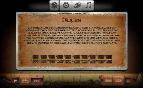 Stone Age Review Slots Payline Diagrams 1-20 All prizes are for combinations of a kind. All prizes are for combinations left to right, excpet scatters. All prizes are on selected lines, except scatters. Scatters symbols pay at any position on screen. highest win only paid on ea