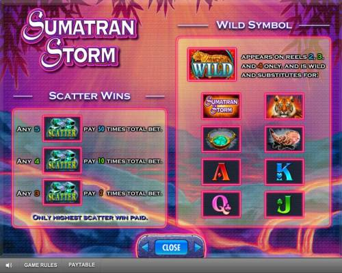 Sumatran Storm Review Slots Scatter Wins and Wild Symbol Rules