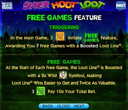 Super Hoot Loot Review Slots free games feature rules