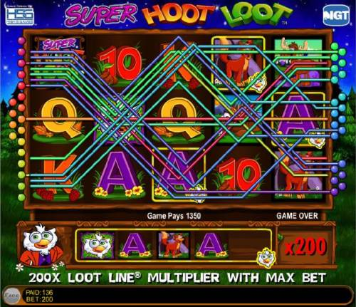 Super Hoot Loot Review Slots 1340 coin jackpot win triggered by the loot line