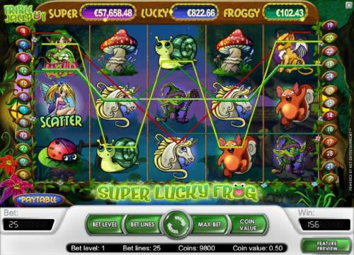 Super Lucky Frog Review Slots 156 coin big win payout