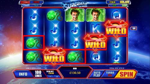 Superman the Movie Review Slots Multiple winning paylines triggers a big win!