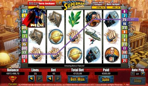 Superman Jackpots Review Slots Superman wild triggers a $450 line pay