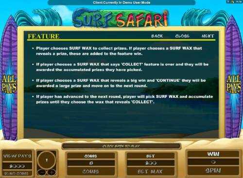 Surf Safari Review Slots feature rules