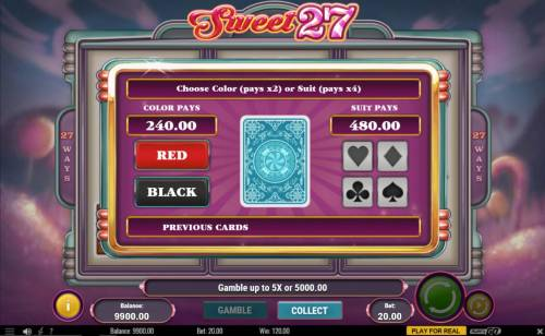 Sweet 27 review on Review Slots
