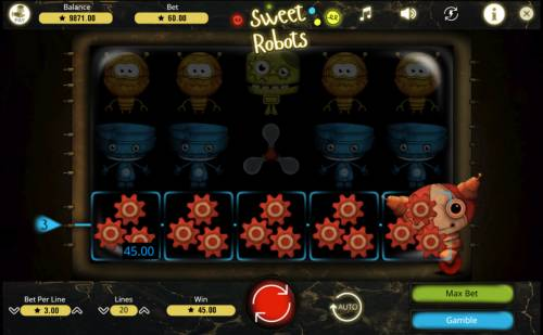 Sweet Robots Review Slots A winning four of a kind