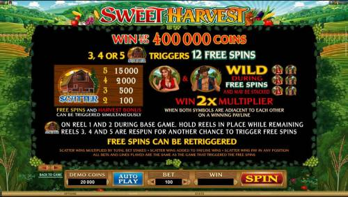 Sweet Harvest review on Review Slots