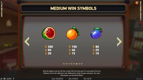 Swipe and Roll review on Review Slots