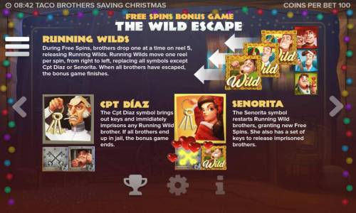 Taco Brothers Saving Christmas Review Slots Free Spins Bonus Game The Wild Escape - Game Rules