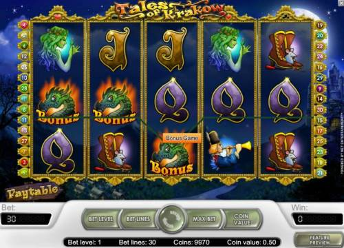 Tales of Krakow Review Slots bonus game feature triggered