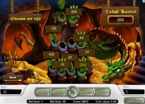 Tales of Krakow Review Slots 200 coin jackpot earned during the bonus game