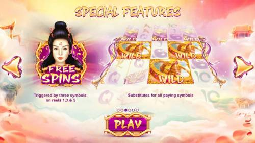 Ten Elements Review Slots Special Feature - Free Spins triggered by three symbols on reels 1, 3 and 5.