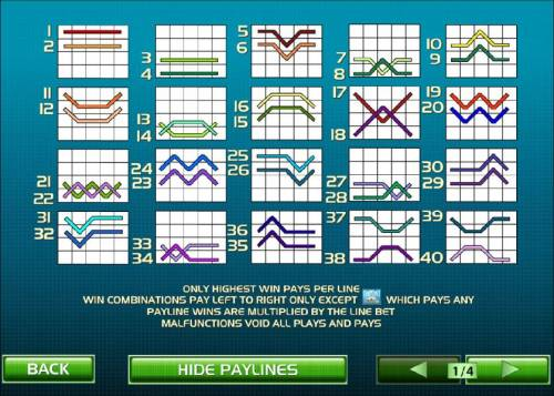 Tennis Stars Review Slots payline diagrams and rules