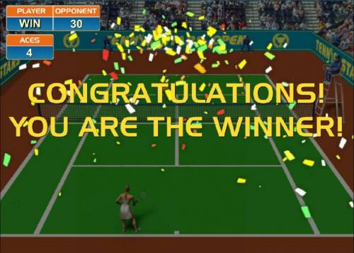 Tennis Stars Review Slots Congratulations - you are a winner