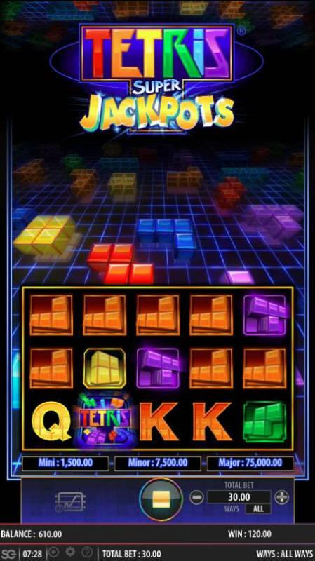 Tetris Super Jackpots Review Slots Multiple winning combinations