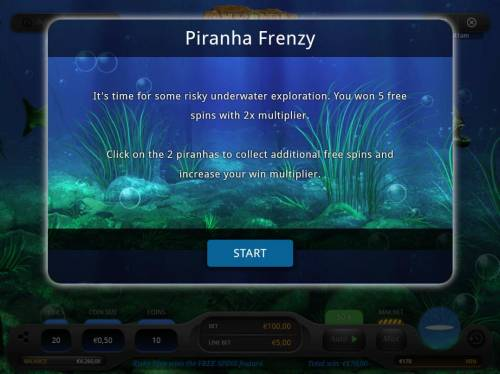 Anaconda Eye Rapids Review Slots Click on 2 piranhas to collect additional free spins and increase your win multiplier.