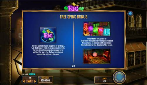 The Big Easy Review Slots Free Spins Bonus Rules