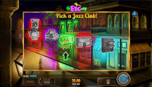 The Big Easy Review Slots Pick a Jazz Club to reveal a free spins prize