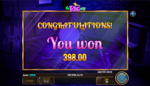 The Big Easy Review Slots Total free spins payout 398 coins
