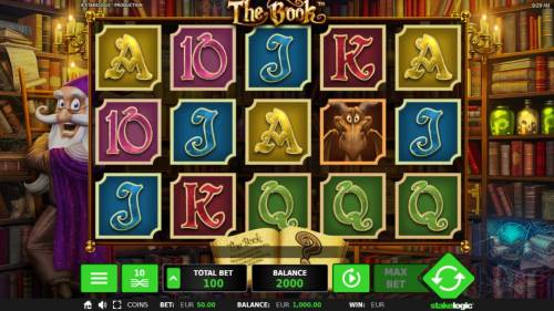 The Book Review Slots Main Game Board