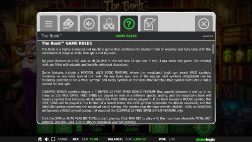 The Book Review Slots General Game Rules - The theoretical average return to player (RTP) is 96.70%.