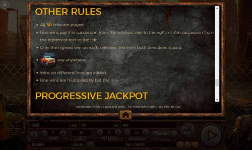 The Dead Escape Review Slots General Game Rules