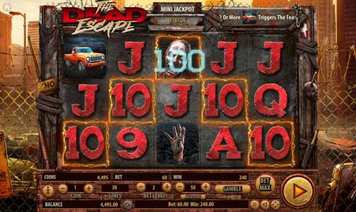The Dead Escape Review Slots A winning Five of a Kind triggers a 100 coin line pay