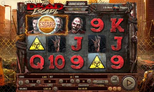 The Dead Escape Review Slots Duel symbol will rotate and land on either Dead or Escape
