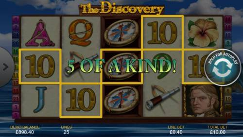 The Discovery Review Slots A winning Five of a Kind.