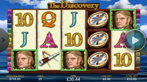 The Discovery Review Slots Landing three captain scatter symbols anywhere on the reels triggers the free games feature.
