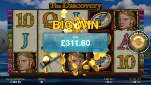 The Discovery Review Slots A 311. 60 big wn paid out.