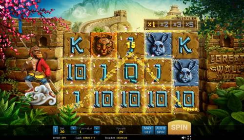 The Great Wall Treasures Review Slots Four of a kind