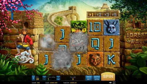 The Great Wall Treasures Review Slots Winning symbols are removed from the wheels