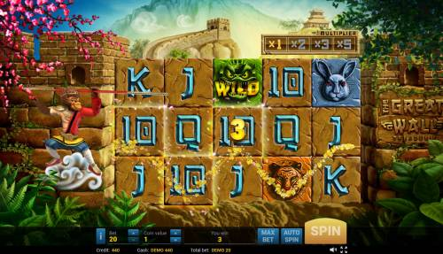 The Great Wall Treasures Review Slots A winning three of a kind