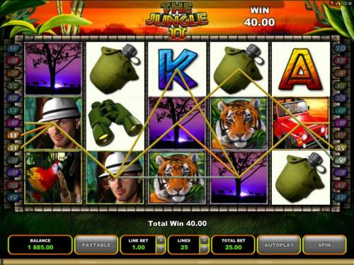 The Jungle II Review Slots Multiple winning paylines