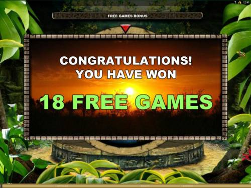 The Jungle II Review Slots 18 Free Games awarded.