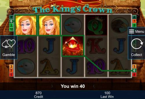 The King's Crown Review Slots Crown symbols triggers a winning three of a kind