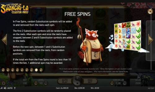 The Legend of Shangri-La Review Slots Free Spins Rules - Continued