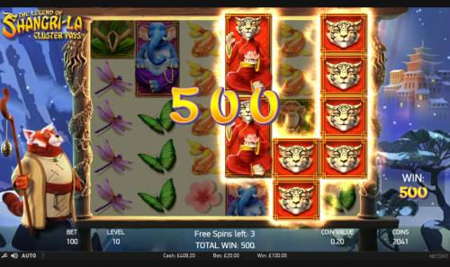 The Legend of Shangri-La Review Slots 500 coin payout