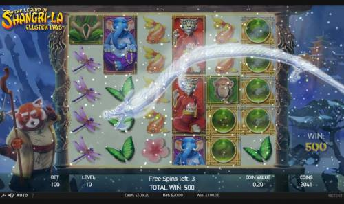 The Legend of Shangri-La Review Slots Dragon will remove wild symbols from the reels during the free spins feature