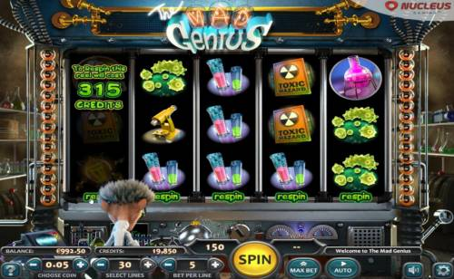 The Mad Genius Review Slots After any loosing spin, you can select a reel to respin. The cost for each reel respin is listed prior to respinning the reel.