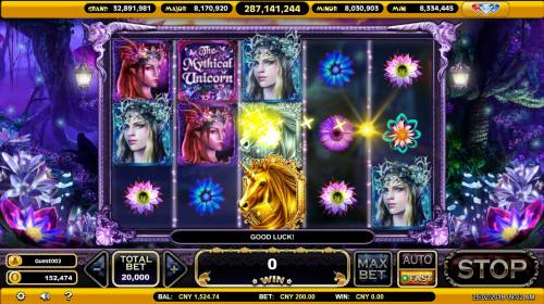 The Mythical Unicorn Review Slots Multiple winning paylines triggers a big win