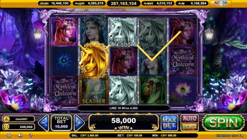 The Mythical Unicorn Review Slots Multiple winning paylines