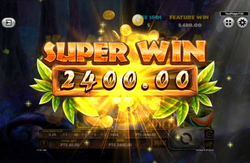 The Tarzan Review Slots A Super Win triggered during the free spins feature