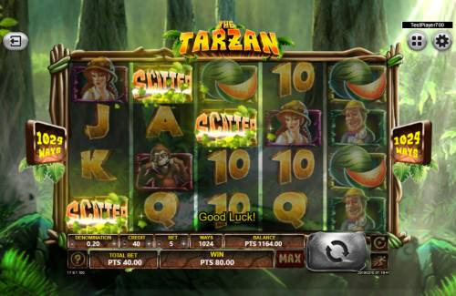 The Tarzan Review Slots Scatter win triggers the free spins feature
