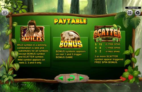 The Tarzan Review Slots Wild and Scatter Symbol Rules