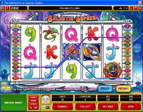The Adventures of Galatic Gopher review on Review Slots