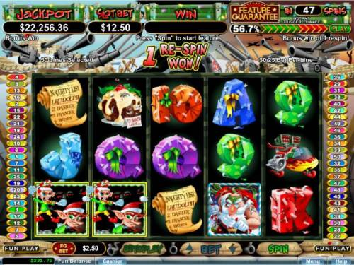 The Elf Wars Review Slots a couple of scatter symbols triggers 1 re-spin awarded
