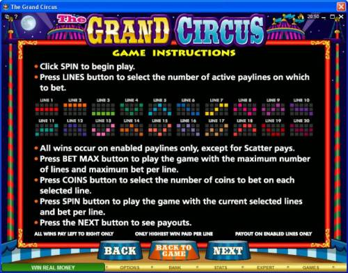The Grand Circus Review Slots